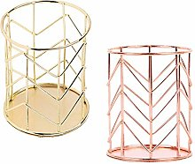 2 Pieces Metal Holder Rose Gold and Gold Pencil