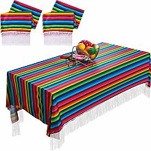 2 Pieces Mexican Table Runner Mexican Tablecloth