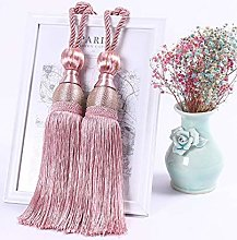 2 Pieces Of Double Ball Tassel Pendant Curtain