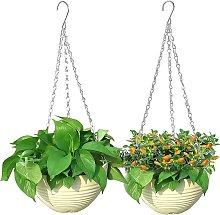 2 pieces of hanging flowerpots, flowerpots,