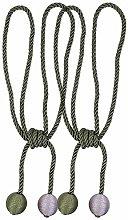 2 Pieces Retro Handmade Curtain Ropes Holdbacks
