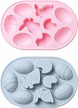 2 Pieces Silicone Chocolate Molds,Easter Egg