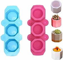 2 Pieces Silicone Flower Pot Mold, Plant Flower