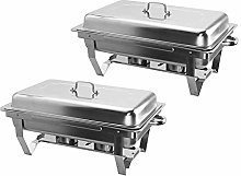 2 Pieces Stainless Steel Chafing Dish Set Buffet