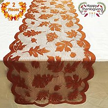 2 Pieces Thanksgiving Table Runner - 13 x 72
