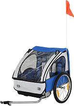 2-Seat Child Bike Trailer Carrier w/ 5-point