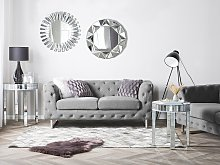 2 Seater Chesterfield Sofa Light Grey Button Tufted