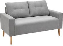 2-Seater Fabric Double Seat Sofa Compact Couch