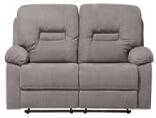 2 Seater Fabric Recliner Sofa Taupe Beige BERGEN