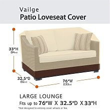 2-seater heavy duty patio bench two-seat sofa