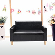 2 Seater Kids Sofa Armchair Cushioned Toddlers