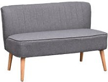 2 Seater Modern Double Seat Sofa Compact Loveseat