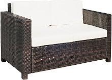 2 Seater Rattan Sofa Wicker Outdoor Furniture