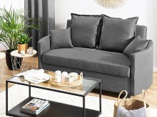 2 Seater Sofa Bed Grey Sleeping Function Profiled