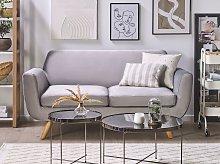 2-Seater Sofa Slipcover Grey Velvet Replacement