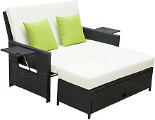 2 Seater Sofa Sun Lounger Rattan Daybed Love