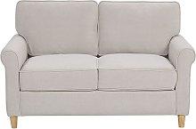 2 Seater Velvet Sofa Beige RONNEBY