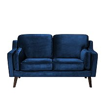 2 Seater Velvet Sofa Blue LOKKA