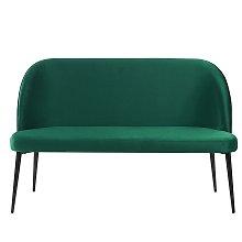 2 Seater Velvet Sofa Green OSBY