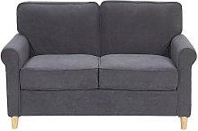 2 Seater Velvet Sofa Grey RONNEBY