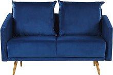 2 Seater Velvet Sofa Navy Blue MAURA