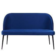 2 Seater Velvet Sofa Navy Blue OSBY