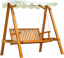2 Seater Wooden Garden Swing Chair Bench Furniture