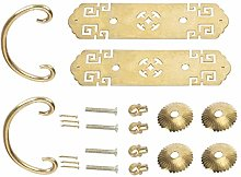 2 Sets Drawer Handle Brass Retro Chinese Style