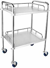 2 Shelf Stainless Steel Medical Carts, Beauty