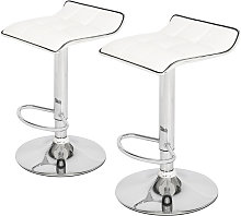 2 Soft-Packed Square Board Curved Foot Bar Stools