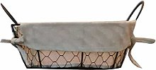 2 Styles Iron Art Wire Storage Basket, Desktop