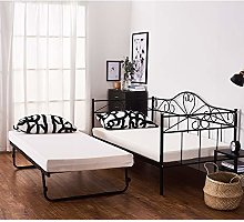 2 Styles Metal Bed Frame Day Bed 3ft Single Sofa