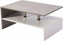 2 Tier Coffee Table Modern Design Sideboard Desk