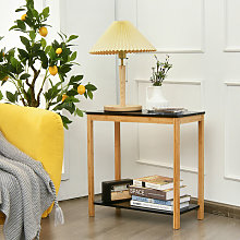 2-Tier Console Table Sofa Side Table Narrow End
