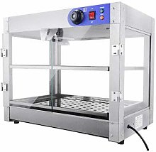 2 Tier Food Warmer Commercial Pizza Pie Cabinet