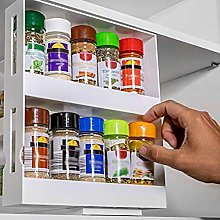 2 Tier Free Standing Spice Rack Jar Holder,Spice