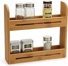 2 Tier High Quality Eco-Friendly Bamboo Spice Herb