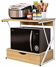 2 Tier Kitchen Countertop Microwave Oven Unit