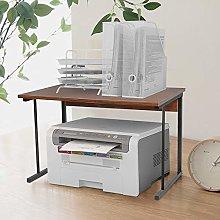 2-Tier Office Desk Shelf Rack for Printer Fax,
