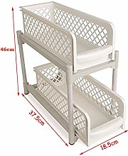 2 Tier Portable Sliding Basket Drawers - Under