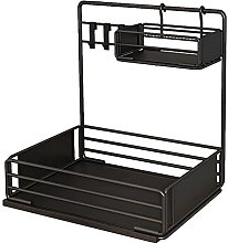 2-Tier Pull Out Cabinets Organizer Shelf, Basket