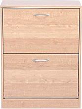 2 Tier Shoe Cabinet, Shoe Cabinet, Wooden Shoe