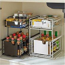 2-Tier Sink Storage Racks Spice Storage Basket