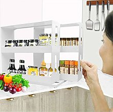 2 Tier Spice Rack Fits Up to 20 Spice Jars,Spice