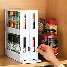 2 Tier Spice Rack Pull Out Kitchen Storage Rack