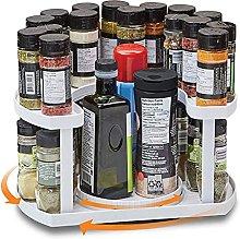 2 Tier Turntable Spice Rack Organiser U-shaped