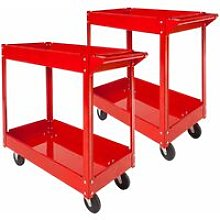 2 tool trolleys with 2 shelves - heavy duty