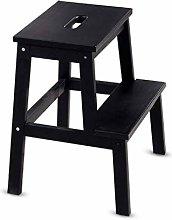 2 Tread Wooden Utility Portable Stepstool/Ladder