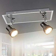 2 Way Rotatable LED Ceiling Light, Chrome Finish