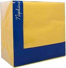 2 X 100 x 2ply Daffodil Yellow Napkins 33cm x 33cm